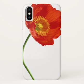 Red Poppy Simplicity iPhone X Case