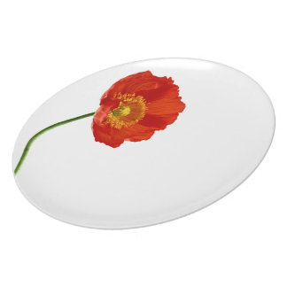 Red Poppy Simplicity Plate