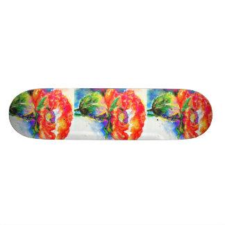 Red Poppy Skateboard Deck
