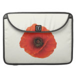 Red Poppy Sleeves For MacBook Pro