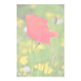 Red poppy stationery
