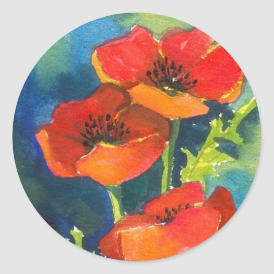 RED POPPY Stickers