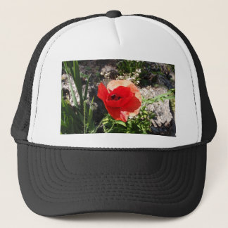 Red Poppy Trucker Hat