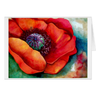 Red Poppy Up Close by Barbara Beck-Azar Card