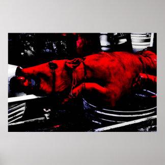 """""""Red Pork"""" JTG Art Poster"""