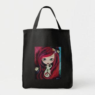 """Red Portrait"" Original Artwork Tote Bag"