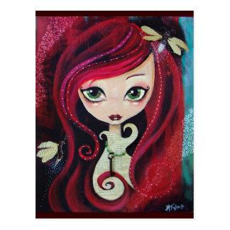 """Red Portrait"" Postcards"