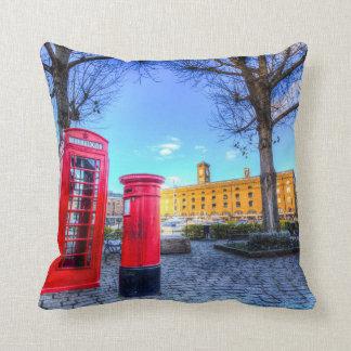 Red Post Box Phone box London Throw Pillow