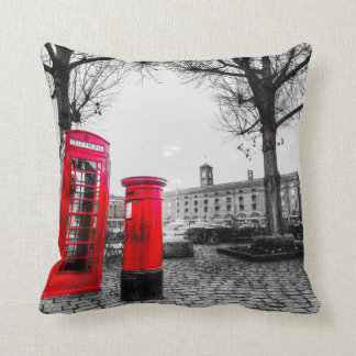 Red Post Box Phone box London Pillow