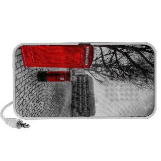 Red Post Box Phone box London Laptop Speakers