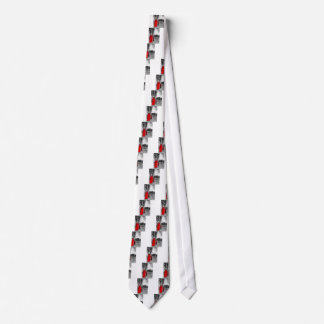 Red Post Box Phone box London Tie