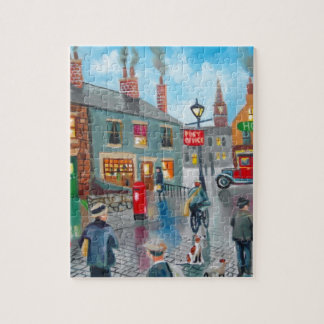 Red post van vinatge oil painting puzzle