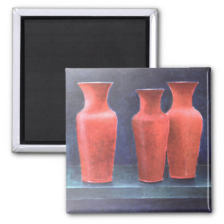 Red Pots 1988 2 Inch Square Magnet