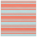 [ Thumbnail: Red & Powder Blue Stripes/Lines Pattern Fabric ]