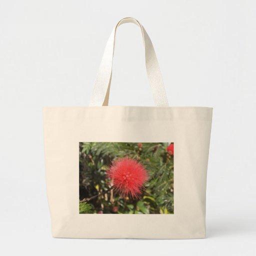 Red Powderpuff Jumbo Tote Bag