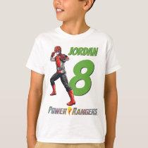 Red Power Ranger Birthday T-Shirt