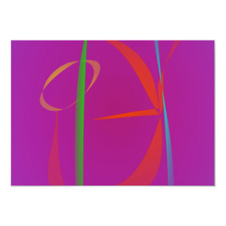 """Red Prawn Abstract Image 5"""" X 7"""" Invitation Card"""
