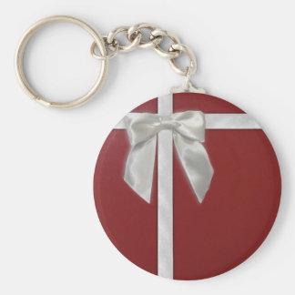 red present keychain