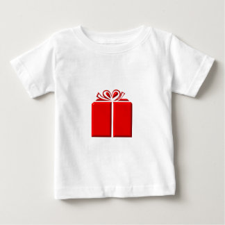 Red present with bow baby T-Shirt