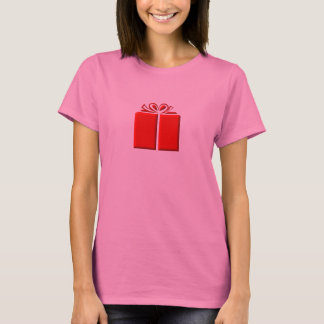 Red present with bow T-Shirt