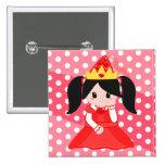 Red Princess Button