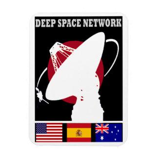 Red profunda del seguimiento espacial iman de vinilo