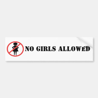 Red Prohibition Sign Woman with hands on hips Car Bumper Sticker