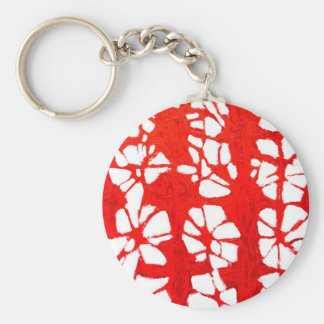 Red Propagation( tachism, abstract expressionism) Keychain