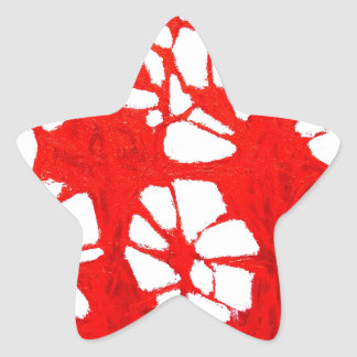 Red Propagation( tachism, abstract expressionism) Star Sticker