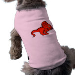 Red Protoceratops Doggie Tee Shirt