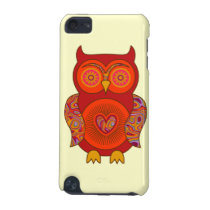 Red Psychedelic Owl iPod Touch 5G Cover