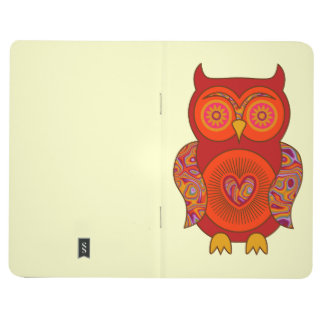 Red Psychedelic Owl Journal