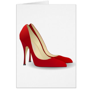 Red Pumps Card