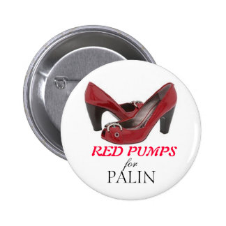 RED PUMPS for Palin 2 Inch Round Button