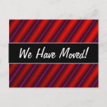 [ Thumbnail: Red, Purple and Black Laser-Like Line Pattern Postcard ]