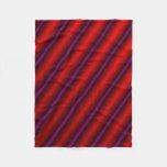 [ Thumbnail: Red, Purple and Black Laser-Like Line Pattern Fleece Blanket ]