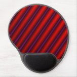 [ Thumbnail: Red, Purple and Black Laser-Like Line Pattern Mouse Pad ]