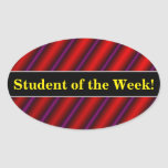 [ Thumbnail: Red, Purple and Black Laser-Like Line Pattern Sticker ]
