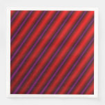 [ Thumbnail: Red, Purple and Black Laser-Like Line Pattern Napkin ]
