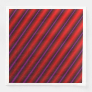 Red, Purple and Black Laser-Like Line Pattern Paper Dinner Napkin