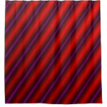 [ Thumbnail: Red, Purple and Black Laser-Like Line Pattern Shower Curtain ]