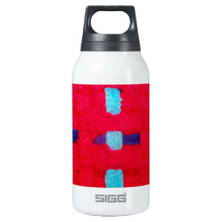 Red, Purple and Blue Weave Insulated Water Bottle