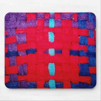 Red, Purple and Blue Weave Mouse Pad