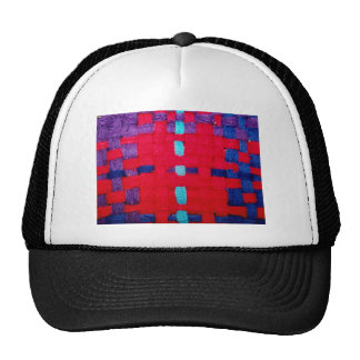 Red, Purple and Blue Weave Trucker Hat