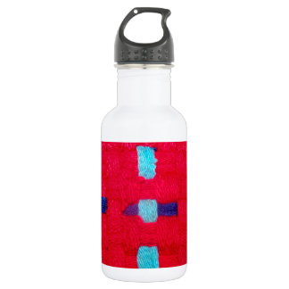 Red, Purple and Blue Weave Water Bottle