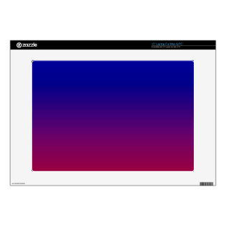 "Red, Purple and Deep Blue Ombre Customizable 15"" Laptop Decal"