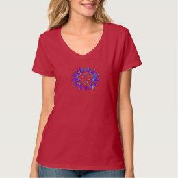 Red,Purple and Gold Women's Hanes Nano V-Neck T T-Shirt