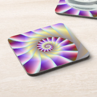 Red Purple and White Spiral Coasters