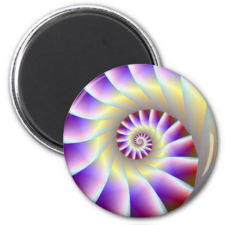 Red Purple and White Spiral  Magnet