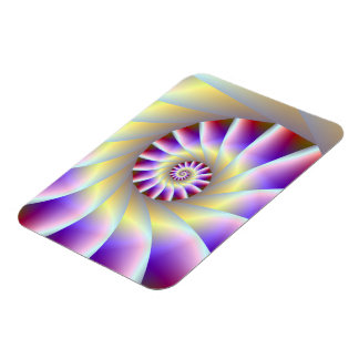 Red Purple and White Spiral Photo Magnet